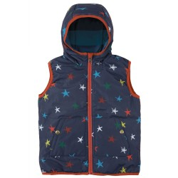 Gilet - Frugi -  Explorer -  Reversible Northern Stars - 2-3, 4-5, 5-6, 6-7, 8-9y -( size up is recommend)  sale