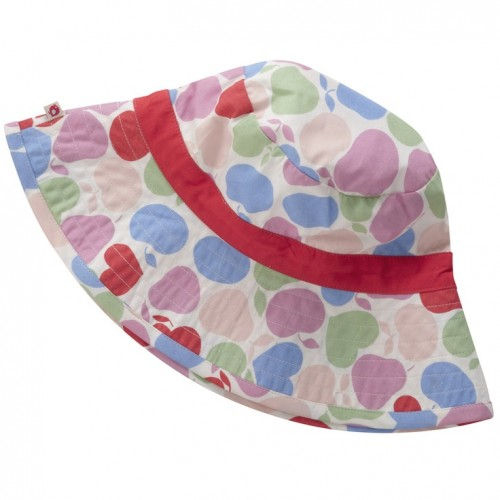 Piccalilly - Girls Betsy  - organic cotton - Sun Hat - red fruit -M/L -  4-5 - sale