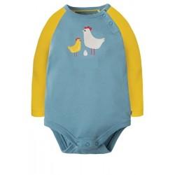Body - Frugi - Rowan - Rive blue chicken - 3-6, 6-12, 12-18, 18-24, 2-3y