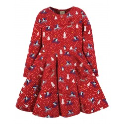 Dress - Frugi - Sofia Skater - Christmas Penguin Play - 2-3y -  last one in - CLEARANCE 45% off - No return