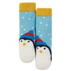 Socks - Frugi - AW18 - drop 5 - Perfect Socks - Sky Blue Scatter Spot/Penguin -  age 0-6, 6-12m, and  2-4y - limited stock