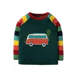 Top - Frugi - AW18 - Henry - Rainbow Marl Stripe Campervan - 12-18, 18-24, 2-3,