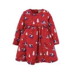 Dress - Frugi - Tess - Christmas Twirly - Winter Penguin Play - 0-3, 6-12, 12-18, 18-24m and 2-3, 3-4y - sale