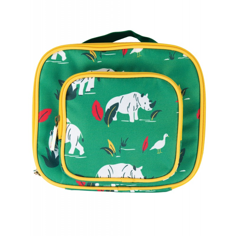 Bag - Frugi - AW19 - BACK TO SCHOOL - Pack A Snack Lunch Bag - Rhino Ramble