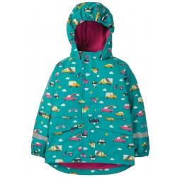 Outerwear - Frugi - AW19 - Puddle Buster Coat - Aqua Rainbow Roads - 1-2, 2-3, 3-4, 4-5, 7-8 - SALE