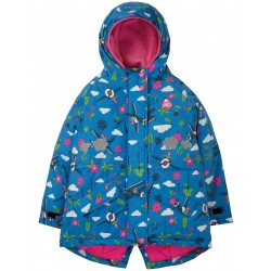 Outerwear - Frugi - AW19 - Explorer Waterproof Coat - Sail Blue Fly High 3-4, 4-5, 5-6, 7-8, 8-9, 9-10  - SALE