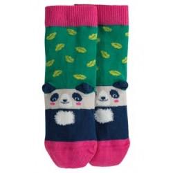 Socks - Frugi - AW19 - drop 2 -  Perfect Pair Socks - Jade Leaf Panda-  UK 6-8, UK 9-12 , UK 13-2, UK 3-5, - new