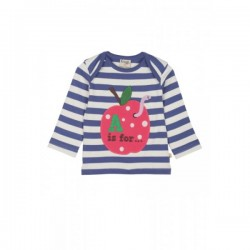 Top - Frugi - Bobby - A for Apple - 3-6 m - last item 45% off clearance sale