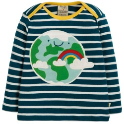 Top - Frugi - AW19 - drop 2 - Bobby - Independent Shops Exclusive -  Space Blue Stripe - Earth -   3-6, 6-12, 12-18, 18-24m  and 2-3 - new