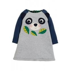Dress - Frugi - AW19 - drop 2 - Peek a Book - Reversible - Panda Flora - 0-3, 3-6, 12-18, 18-24m and 2-3, 3-4y - new