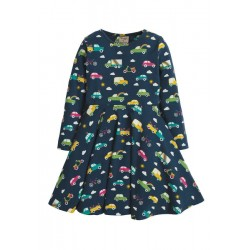 Dress - Frugi - Skater - Rainbow Roads - Long Sleeved - Cars  12-18m and 8-9, 9-10 y  - last 3 in sale