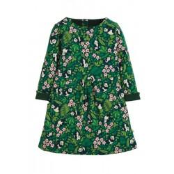 Dress - Frugi - AW19 - Lulu Jumper Dress - Panda Floral -  2-3, 4-5, 5-6, 6-7, 7-8, 8-9, 9-10 - sale