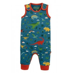 Dungarees - Frugi - AW19  -  drop 2 - Kneepatch Dungarees - Jurassic Dino Lands  - 0-3, 3-6, 6-12, 12-18, 18-24m and 2-3y - new