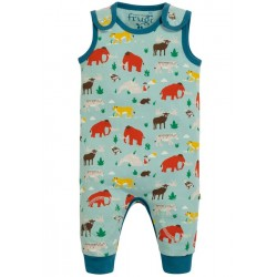 Dungarees - Frugi - AW19  -  drop 2 - Kneepatch Dungarees - Prehistoric pals  - 0-3, 3-6,  6-12, 12-18, 18-24m and 2-3y - new