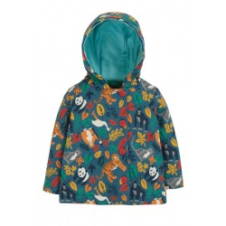 Jacket - Frugi - AW19 - drop 2 - Cosy Button Up - Steely Blue Endangered Hero - 12-18, 18-24m and 2-3, 3-4y - new coming in soon