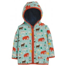 Jacket - Frugi - AW19 - drop 2 - Reversible Snuggle Jacket - Prehistoric Pals - 12-18, 18-24m and 2-3, 3-4y- new