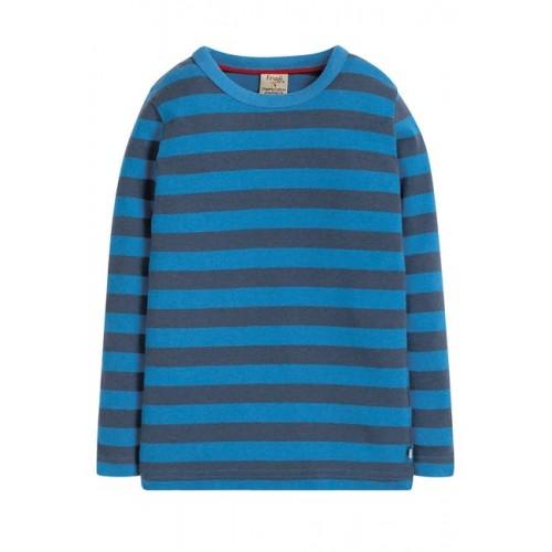 Top - Frugi - AW19 - drop 2 - Favourite - Sail Blue stripe - 12-18, 18-24m 2-3, 3-4, 4-5, 5-6, 6-7, 7-8 - new