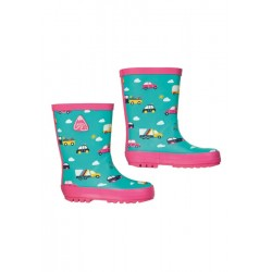 Outerwear - Boots - Frugi -  AW19 - Puddle Buster Welly Boots - Rainbow cars - UK 13, UK 1 , UK2 - sale
