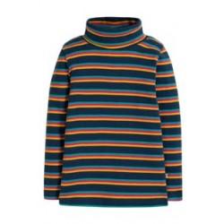 Top - Frugi - Ava - Stripe Roll Neck - Multistripe  - sale