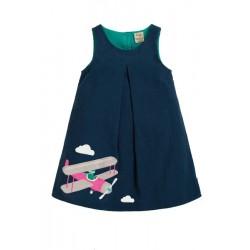 Dress - Frugi - AW19 - Amber - Space Blue - Pilot - 2-3, 3-4, 4-5, 5-6 - sale
