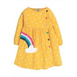 Dress - Frugi - AW19 - Bonnie Button Dress - Yellow Bumble Bee spot  - 4-5, 5-6y sale