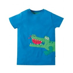 Top - Frugi - James Blue Croc -  5-6 y - last one in - CLEARANCE 45% off - No return