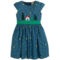 Dress - Frugi -  Sparkle and Shine - Moonlight Christmas Town - sale 12-18, 18-24, 2-3, 3-4y and 4-5,  6-7, 7-8,  8-9, 9-10y -  sale