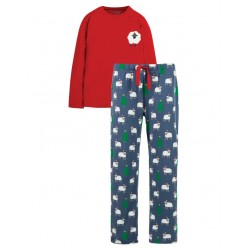 ADULT -  Frugi -  Pyjamas -  Grown Up - Comet  Tango Red Sheep PJ -  size SMALL - SALE