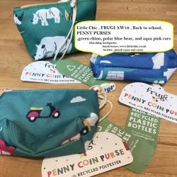 Bag - Frugi - AW19  - BACK TO SCHOOL - Penny Purse - Blue Polar