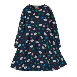 Dress - Frugi - Skater Dress - Hedgehogs - mums matching dresses also available - sale