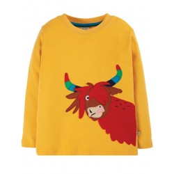 Top - Frugi - Adventure - Bumble Bee yellow - Highland Cow - AW20 - NEW