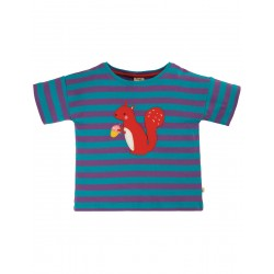 Top - Frugi - Myla - Thistle Stripe -  Squirrel - sale