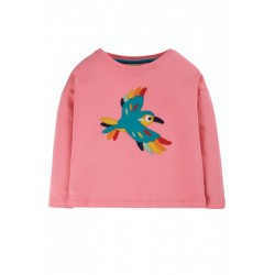 Top - Frugi - Bethany -  Guava PInk - Bird - AW20 - NEW