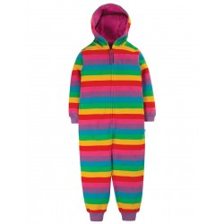 Snuggle suit - Frugi - Big - Foxglove Rainbow Stripe - AW20 - NEW