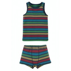SET - Frugi - Vest and  Boxer - 2 pack - Tobermory Rainbow Stripe