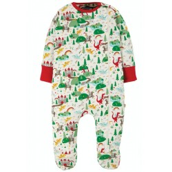 Babygrow - Frugi - Zipped - Mini Fairytale - dragons , knights and castles  - 18-24  m last item -45% off clearance sale
