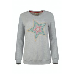 ADULT - Frugi - Bryony Jumper -  Grey Marl - Star - Sale