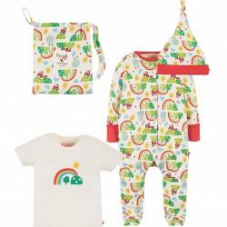 Babygrow Set - Frugi - Baby Gift Set - Happy Day - worth £37 - available £25 - matching pyjamas also available