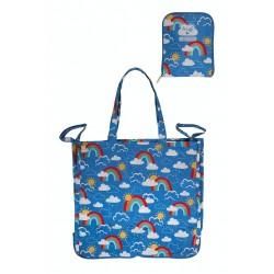 Bag - Frugi -  Pack away Tote bag - Rainbow skies - sale