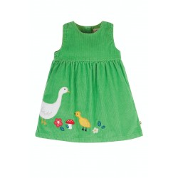Dress - Frugi - Lily  - Cord Dress - Fjord Green and Duck - AW21 - NEW