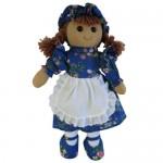Toys - Soft Toys - Rag Doll - Blue Floral Dress