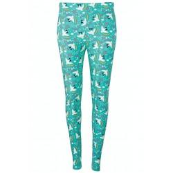 Adult - Frugi - Grown Up  - Libby leggings - Ptarmigan Bird Aqua - AW21 - NEW