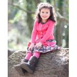 Leggings - Frugi Girls Raspberry  4-5 - sale