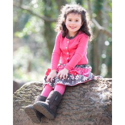Leggings - Frugi Girls Raspberry  4-5 - sale