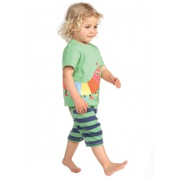 Shorts- Frugi baby shorts - (caterpillar) SALE 0-3m