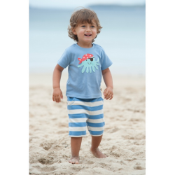 Shorts - Frugi -  baby(octopus) - Surf Blue - SALE 3-6m left