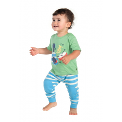 Top - FRUGI Soft green / instruments SALE - 0-3m