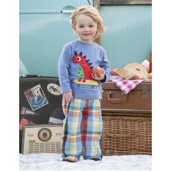 Trousers -  Frugi - Boys Check Roll up Trousers - SALE left 6-12m