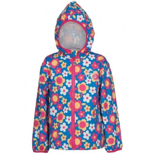 Jacket - Frugi  Puddle Buster  - Rainy Summer Garden in SALE  5-6,  8-9y