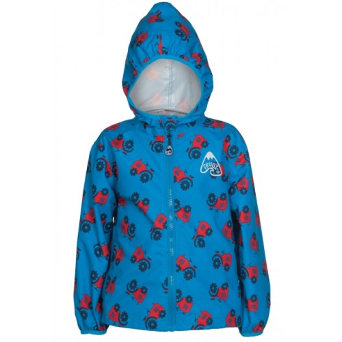 Jacket - Frugi Puddle Buster  - Rainy Day - Tractor in SALE  6-7y, 8-9y